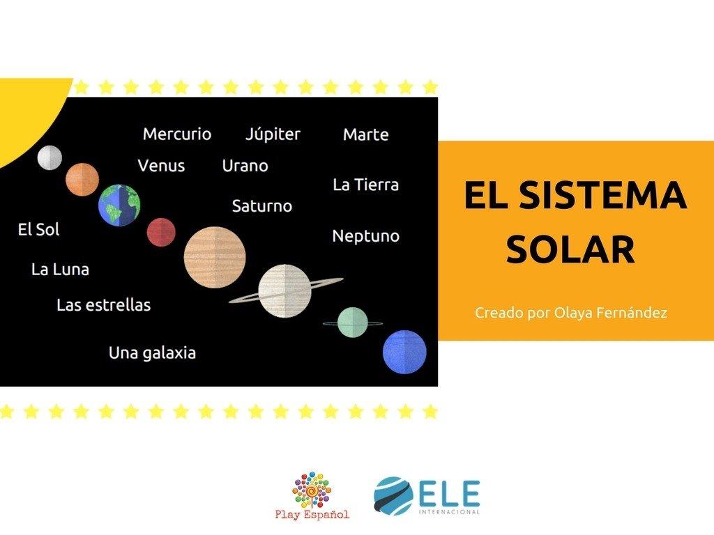 El sistema solar. Descargables para saber más sobre las planetas en español. #infografías #claseele