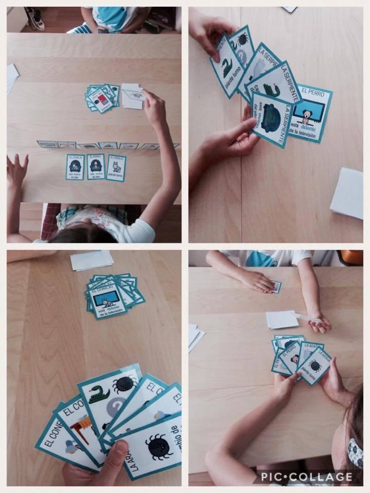 Juego para repasar preposiciones en clase de ELE. Juegos cartas para clase de español. #profedeele #spanishteacher