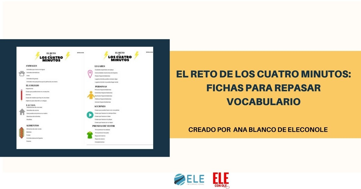 Juego para repasar vocabulario en clase de español. Ideas para clase de ELE. #gamificar #Spanishteacher