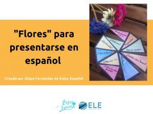 Flores para presentarse en español. #spanishteacher #activity