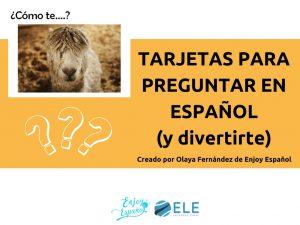 Tarjetas para preguntar en español y divertirte en clase de ELE. #spanishteacher #cards