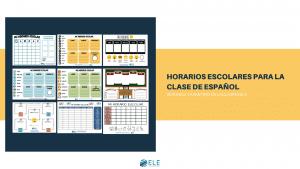Horarios escolares para la clase de español. #vueltalcole #activity #spanishteacher