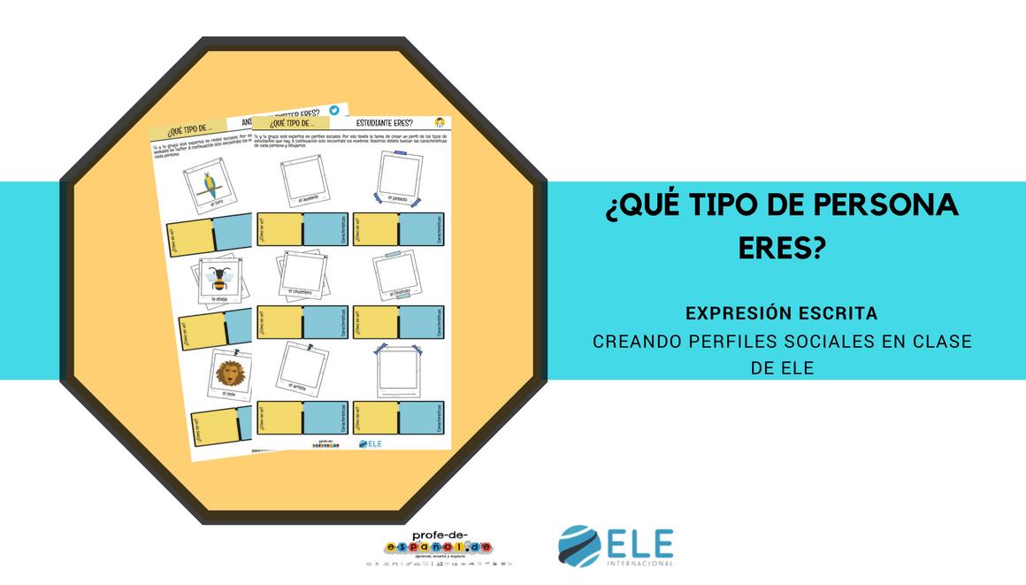 Las redes sociales en clases de ELE es una actividad para enseñar a los alumnos los tipos de personas que existen en las redes. #activity #spanishteacher