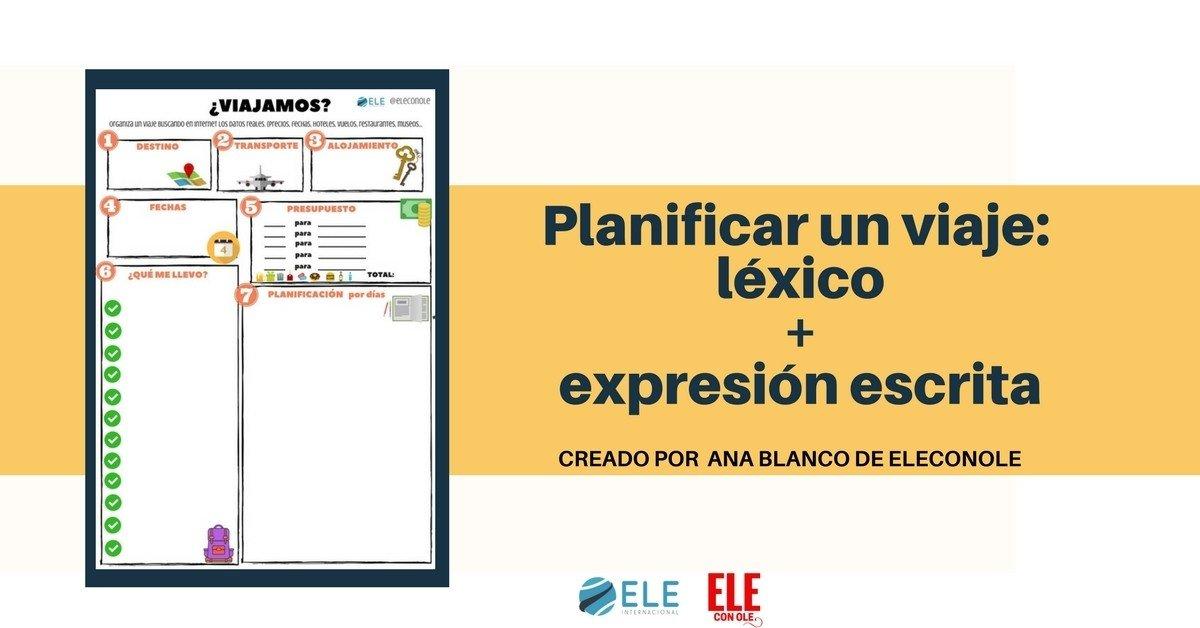 Planea tu viaje en clases de ELE. #spanishteach #activity