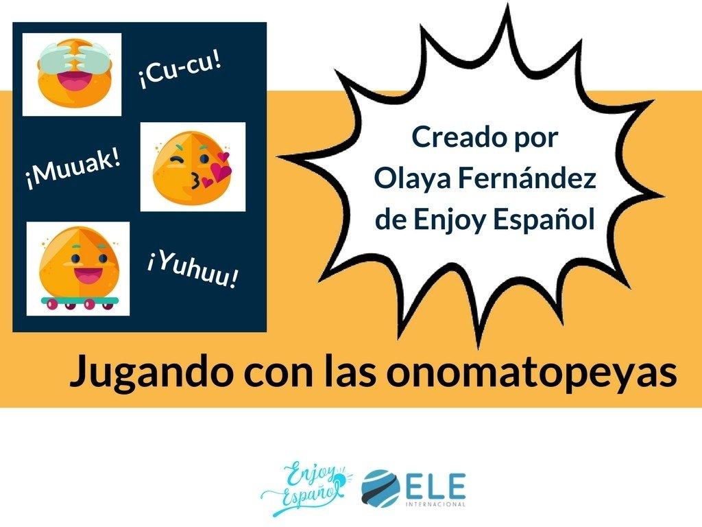 Actividades para trabajar las onomatopeyas en clases de español. Actividades culturales en clase de ELE. #spanishteacher #profedeele