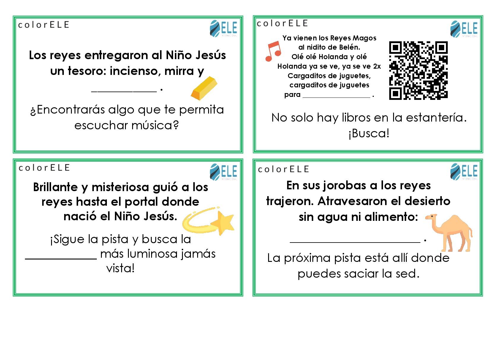 Actividad para trabajar la temática de los Reyes Magos en clase de español. #profedeele #spanishteacher