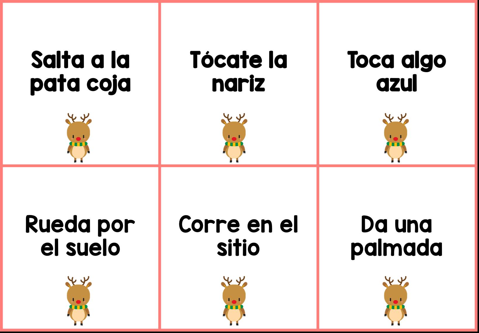 Disfruta con estos cinco ejercicios para celebrar la ELENavidad. #activity #spanishteacher