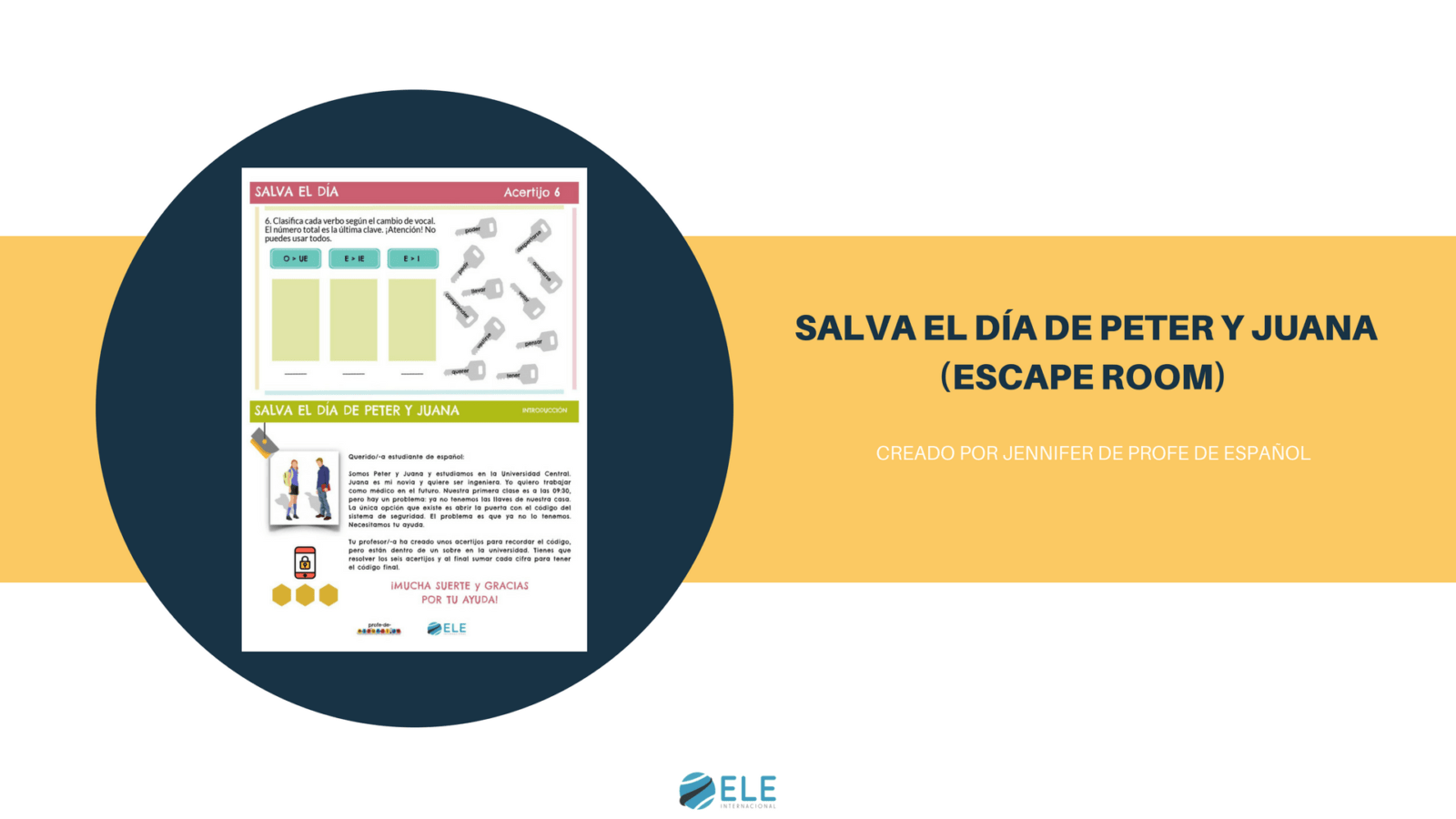 Juega a este divertido y didáctico escape room en clase de ELE. #spanishteacher #activity
