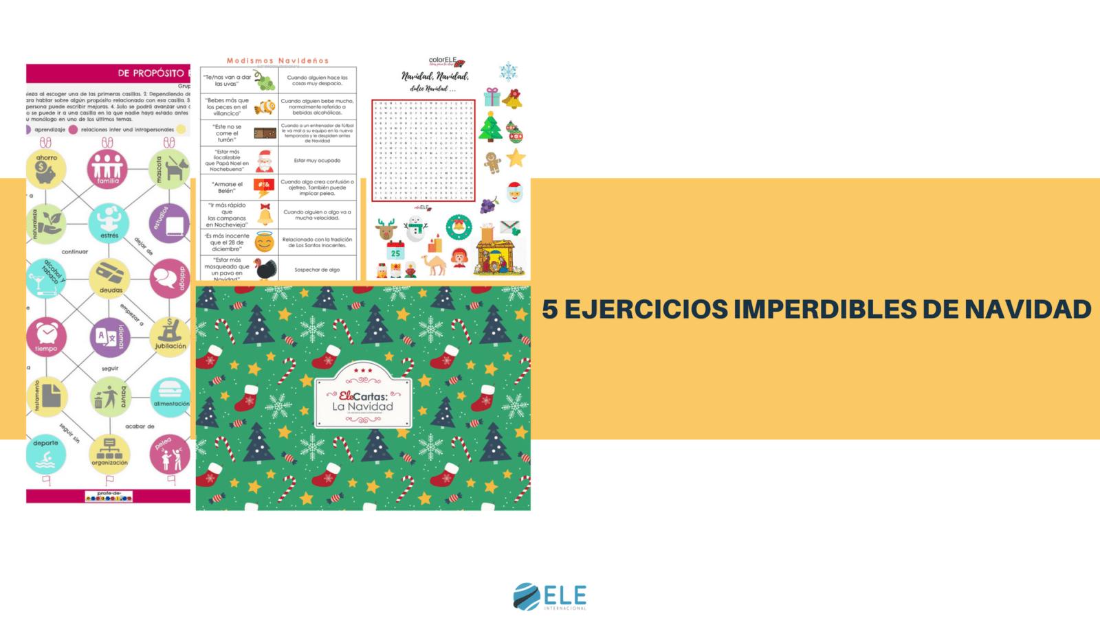 Celebra la Navidad en clase de ELE con estos cinco ejercicios especiales. #spanishteacher #activity