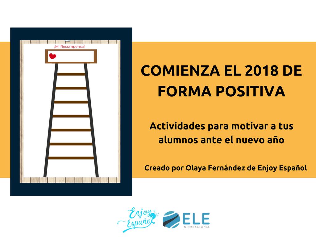 Actividad para enumerar los propósitos de 2018 en clases de ELE. #activity #2018 #spanishteacher