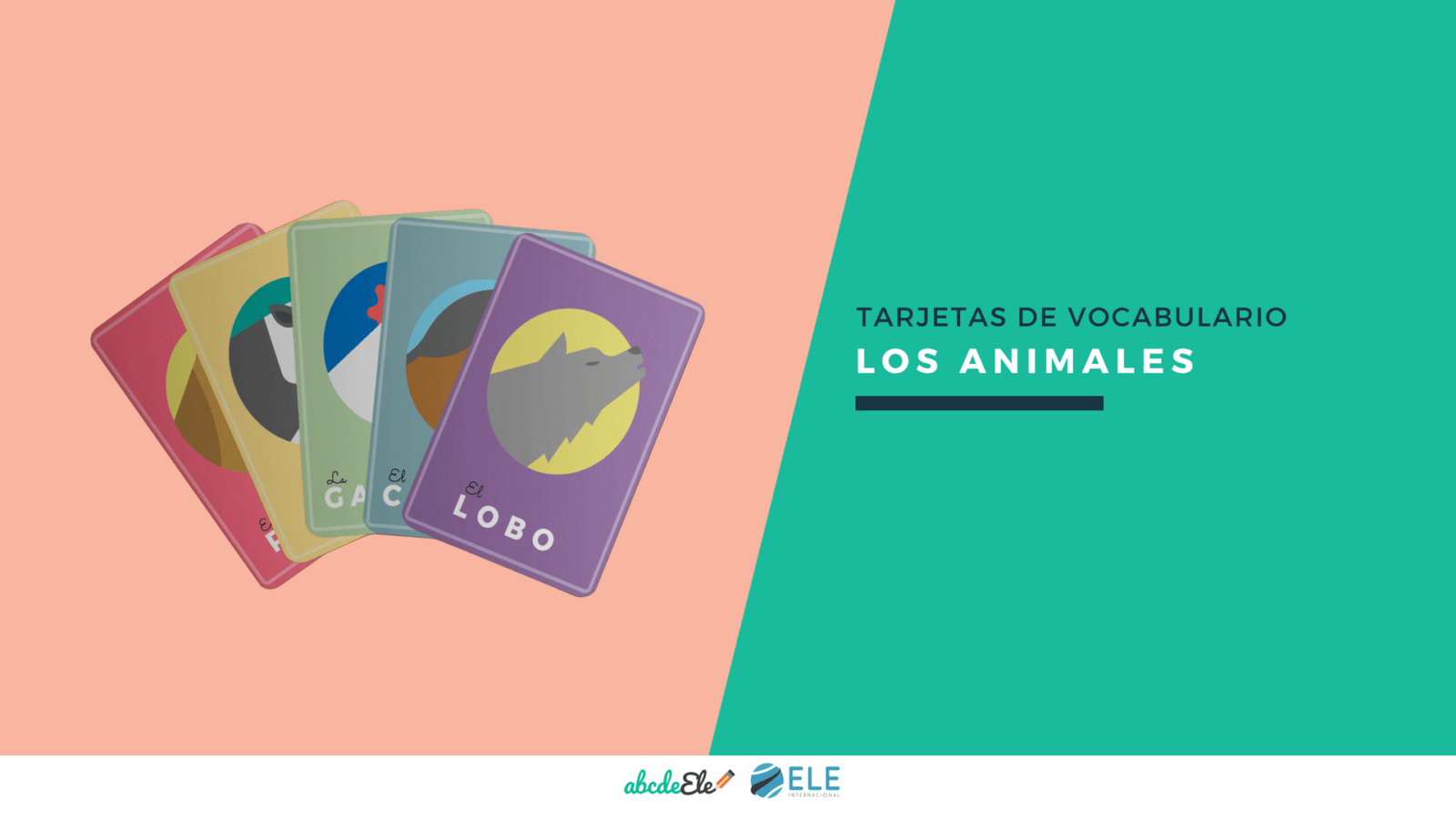 Tarjetas de vocabulario de animales para clases de ELE. #activity #spanishteacher