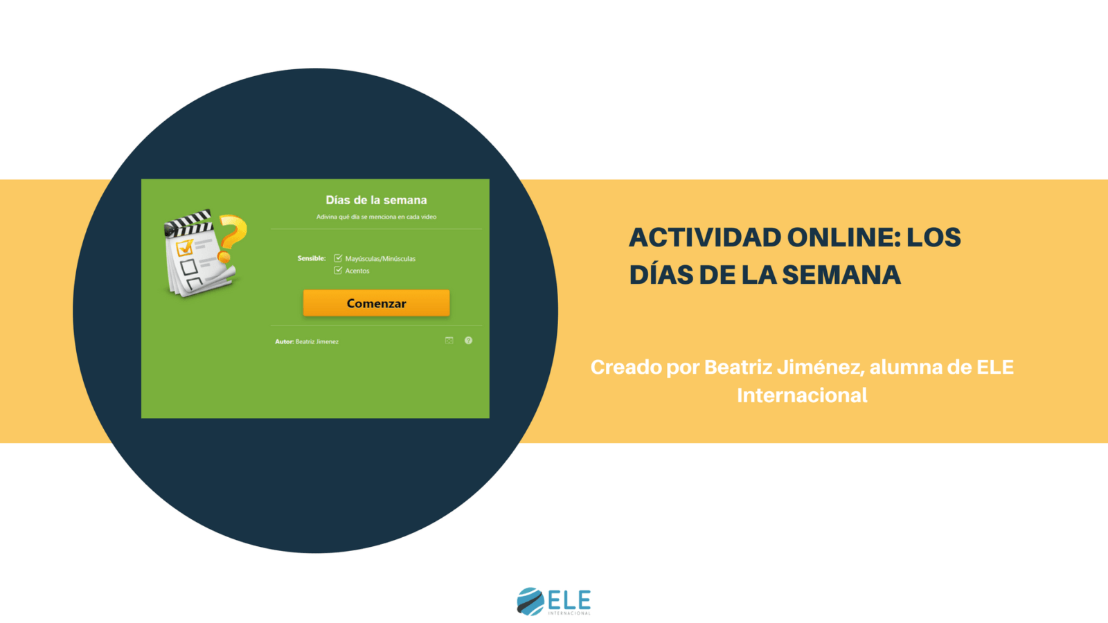 Actividad online sobre los días de la semana. #onlineactivity #clasedeele