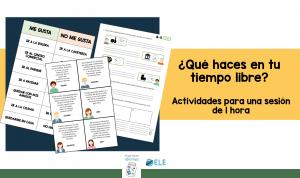 Fichas para trabajar actividades de tiempo libre. Vocabulary free time activities Spanish. #materialesparaclase #Spanishteacher #teachmoreSpanish