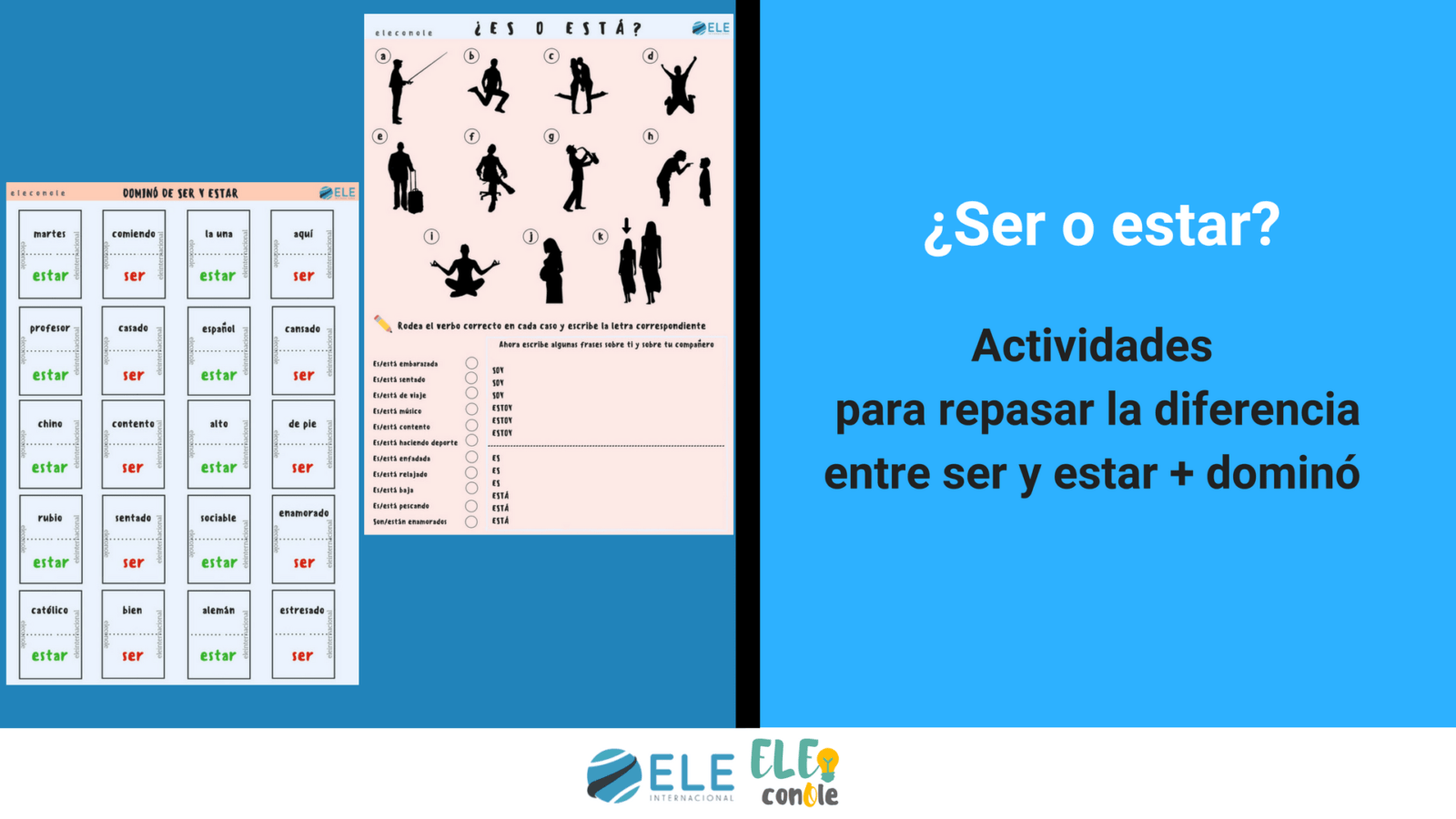 Juegos gramaticales para clase de español. Gramática en clase de ELE. Juego de mesa.