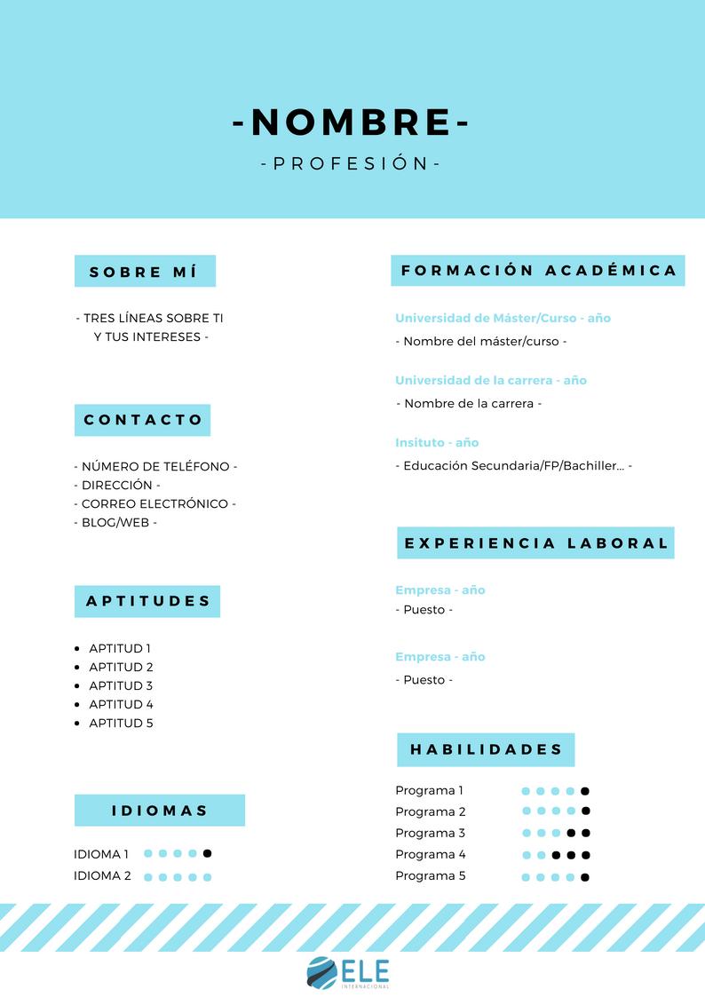 Crea tu propio curriculum vitae. Actividad de escritura, trabajar profesiones y adjetivos. #ProfedeELE #recursosparaclase