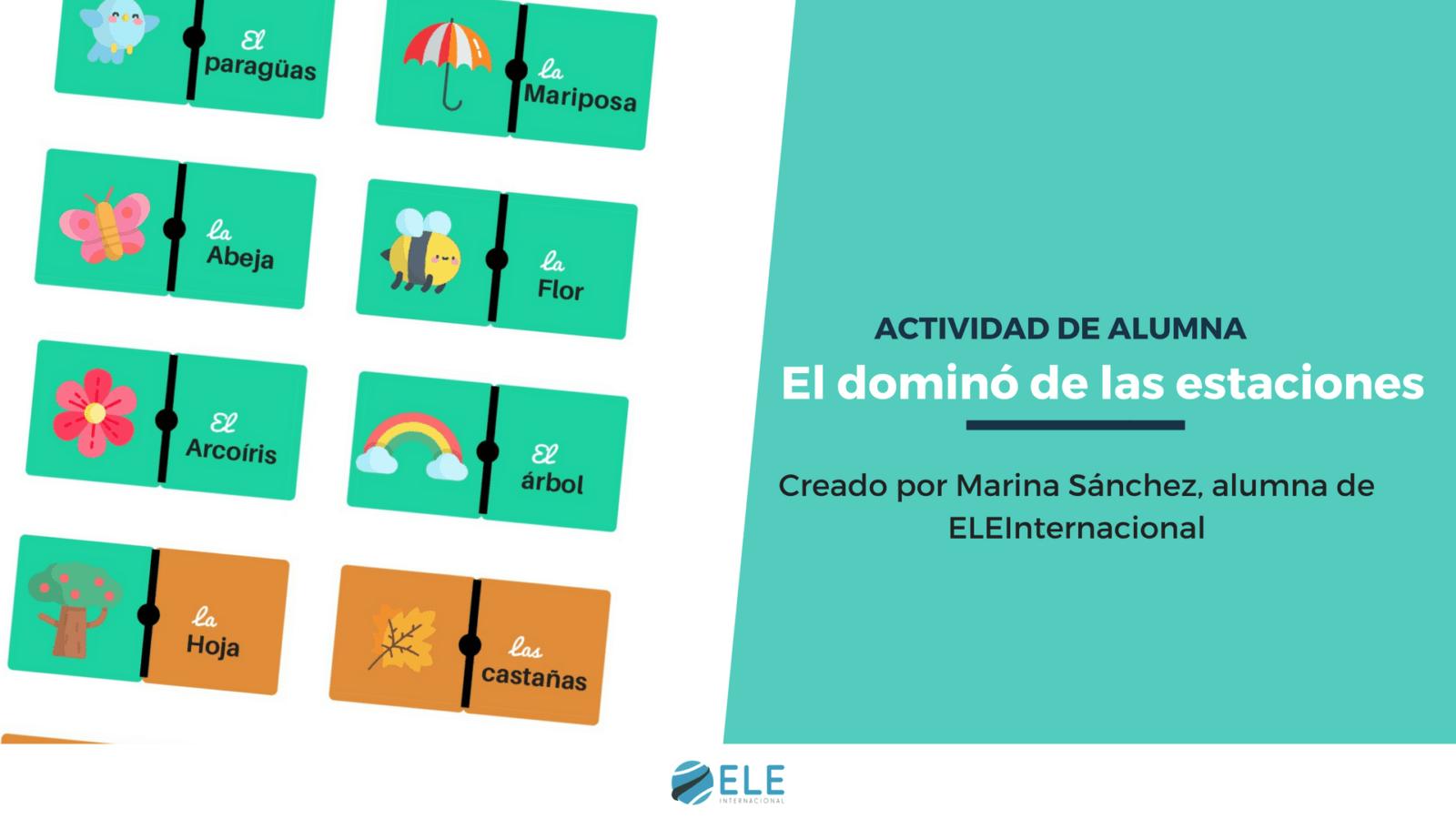 Las estaciones en clases de ELE. Juega al dominó de las estaciones en tus clases con estas actividades. #claseele #estaciones #spanishteacher