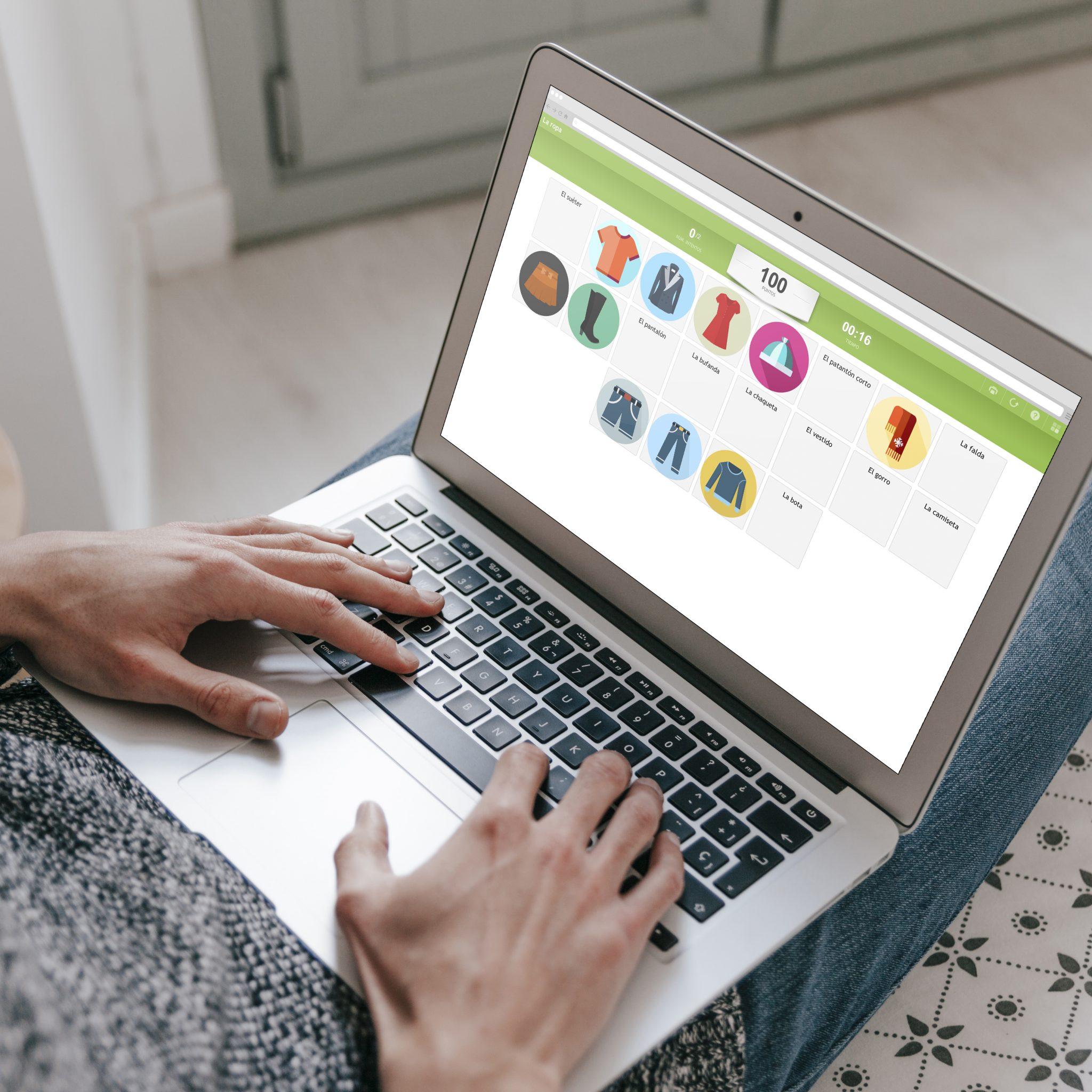 Actividad online sobre la ropa. #onlineactivity #spanishteacher