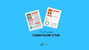 Crea tu propio Curriculum Vitae. Ficha para hacer tu propio curriculum en clase de ELE. #spanishteacher #jobs