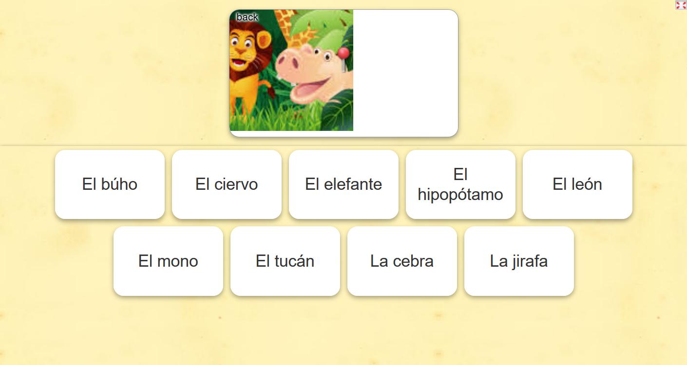 Actividad online para aprender español. #aprendeespañol