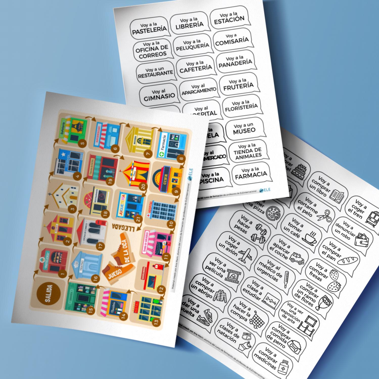 Vocabulario para trabajar la ciudad. Juegos e ideas perfectos para tus clases de ELE. #gamificar #juegos #profedeele #spanishteacher