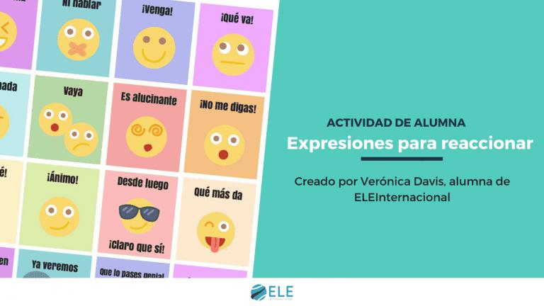 Expresiones para reaccionar en español