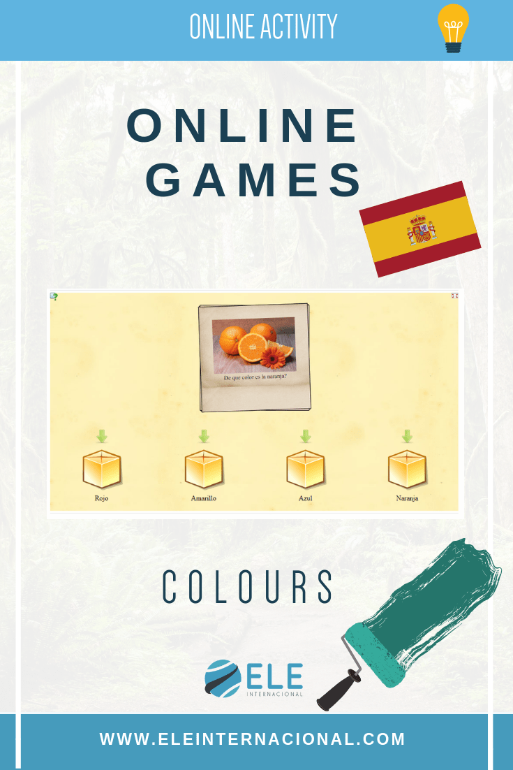 Jugar con los colores. Online games for Spanish lessons. Vocabulary games. #spanishteacher #profedeele