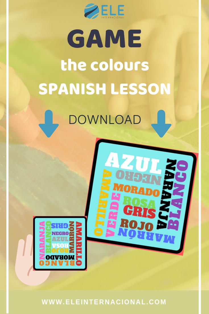 Vocabulary for Spanish lessons. Ideas to work with colours in Spanish. Ideas colors Spanish with kids. #teachspanish #teachingideas