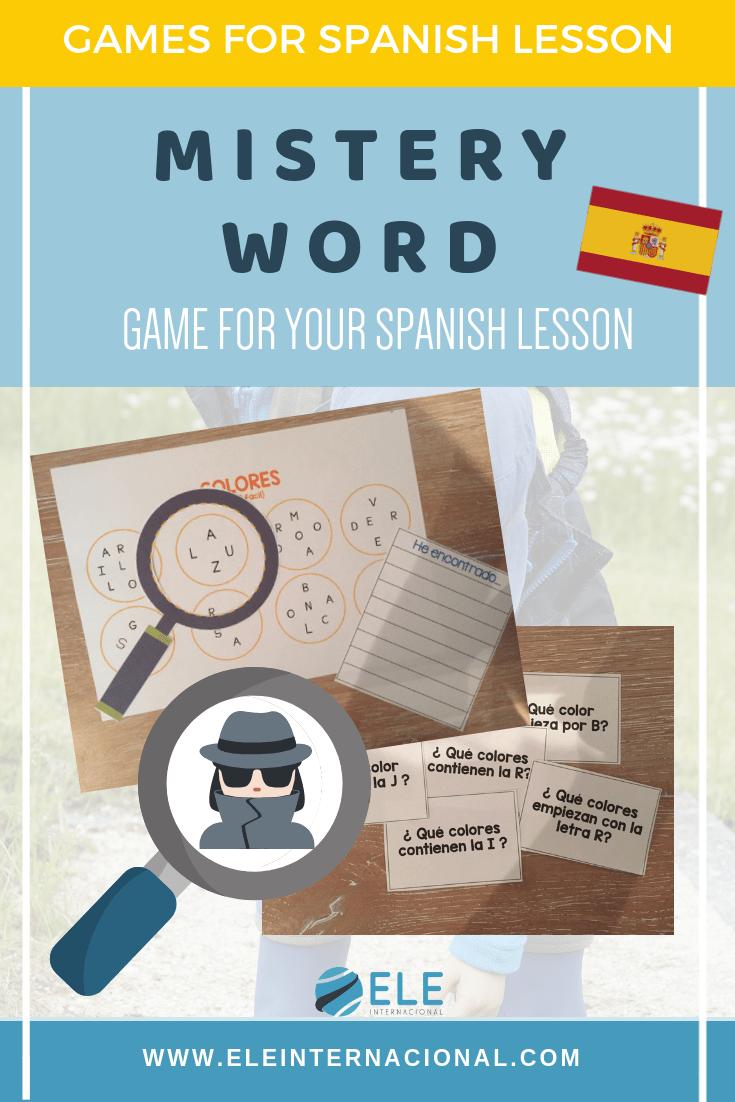 Juego para trabajar vocabulario de manera divertida. Deletrear en clase de español. Spelling games.