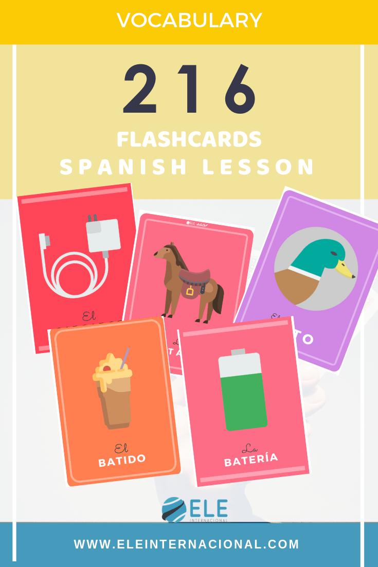 Tarjetas para trabajar vocabulario en clase de ELE. Juegos y actividades pack descargable. #profedeele #spanishteacher