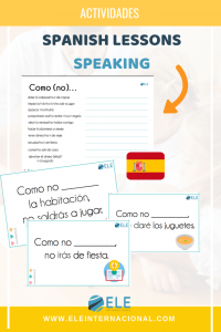 Actividades para trabajar la expresión oral. #profedeele #spanishteacher