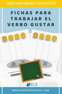 Cartas y fichas para trabajar las asignaturas del colegio y el verbo gustar. Perfectas para nivel A1 en clase de ELE #gamificar #clasedeespañol