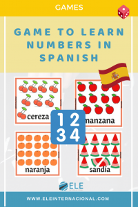 Game to learn numbers in Spanish. Spanish vocabulary. Ideas for kids. #spanishteacher #spanishlesson