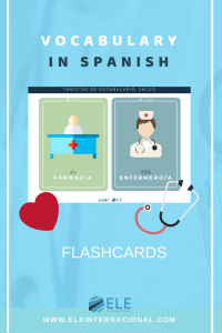 Tarjetas de vocabulario sobre salud. MFL Spanish vocabulary, #spanishlesson #profedeele