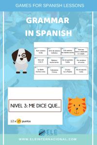 Actividades para trabajar gramática en clase de español de manera fácil y atractiva. #profedeele #spanishteacher