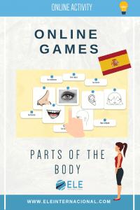 Las partes del cuerpo actividad online gratuita para clase de ELE. Ideas para clase de español.