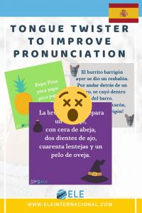 Trabalenguas para mejorar la pronunciación en clase de español. Juegos para mejorar la pronunciación. #clasedeele #spanishlesson
