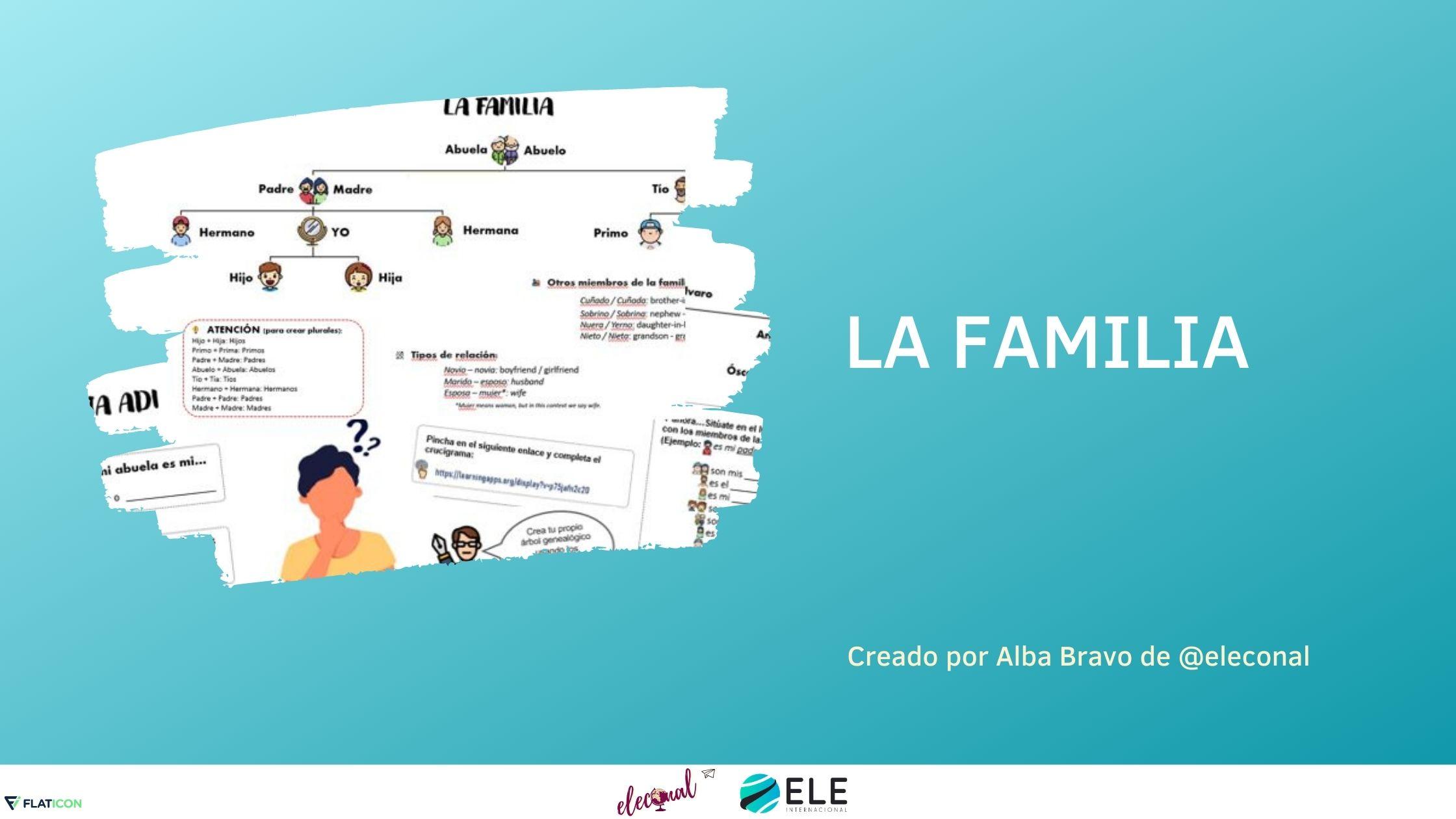 Actividad sobre la familia para aprender vocabulario