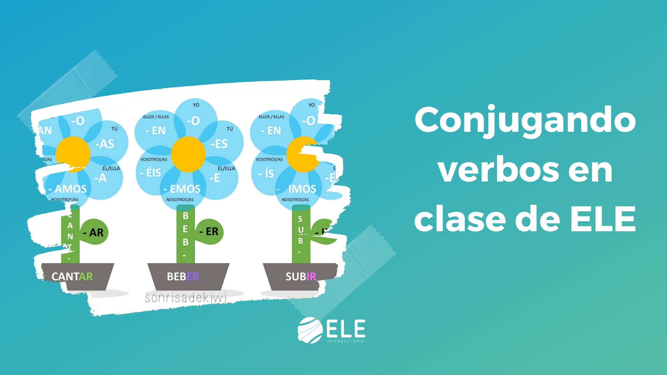 Actividad de flores para conjugar verbos