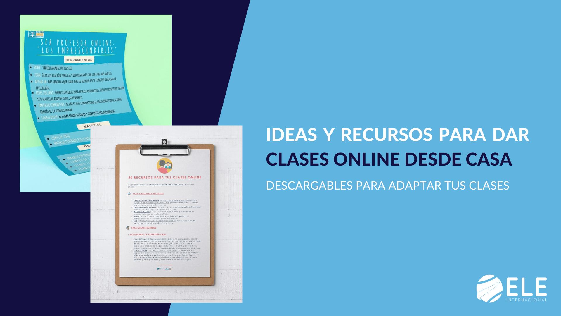 Dos guías que reúnen ideas para dar clases online desde casa