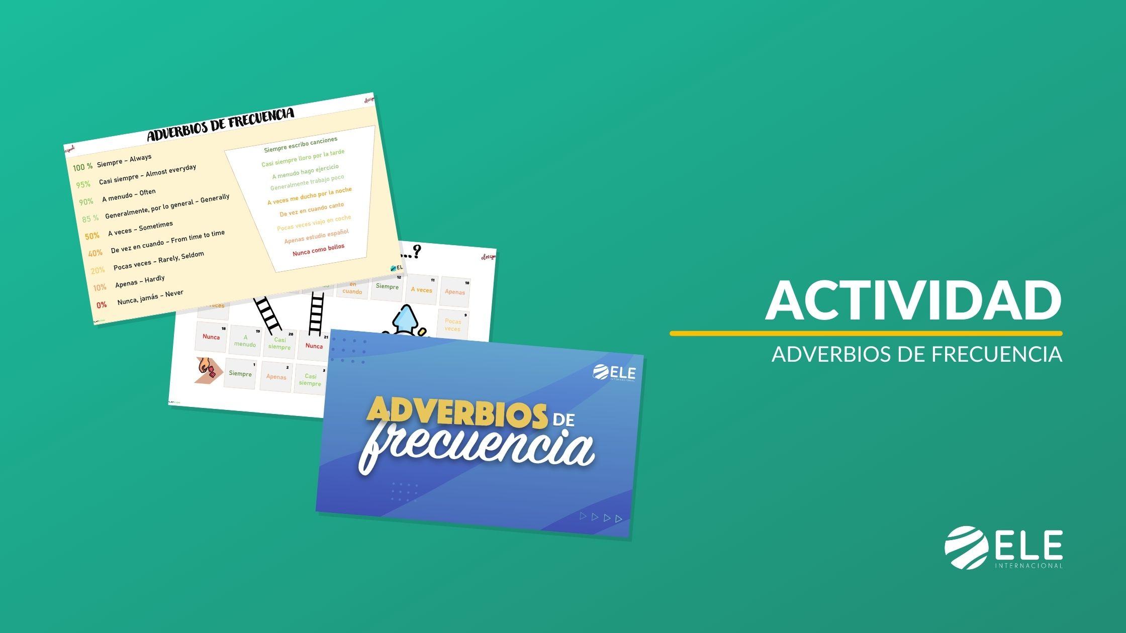 Adverbios de frecuencia en español