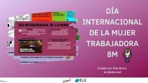 Actividad sobre el día internacional de la mujer
