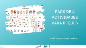 Pack de actividades para niños de 4-6 años