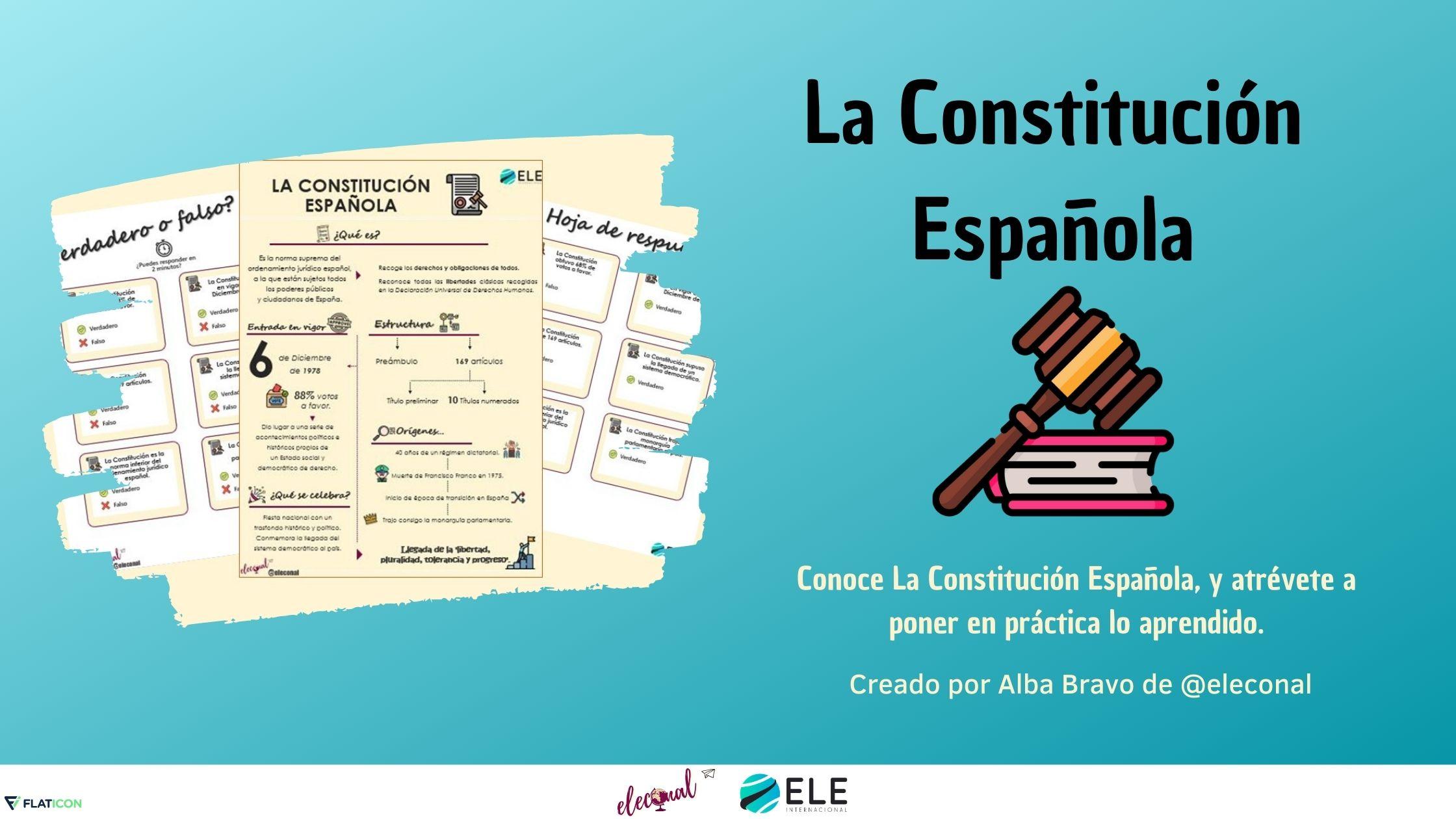 actividad la Constitución española