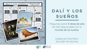 Dalí y los sueños, tablero con preguntas sobre sus obras