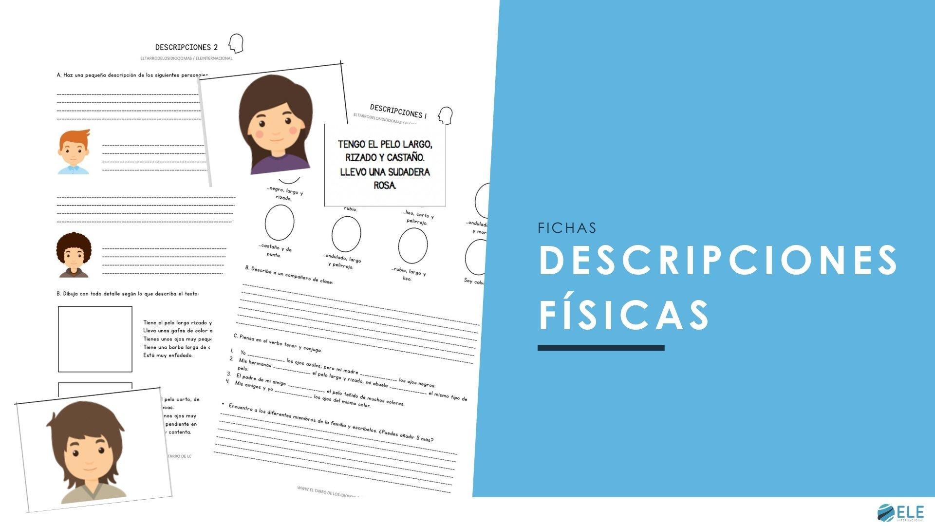 Actividades para trabaja las descripciones físicas en clase de ELE.