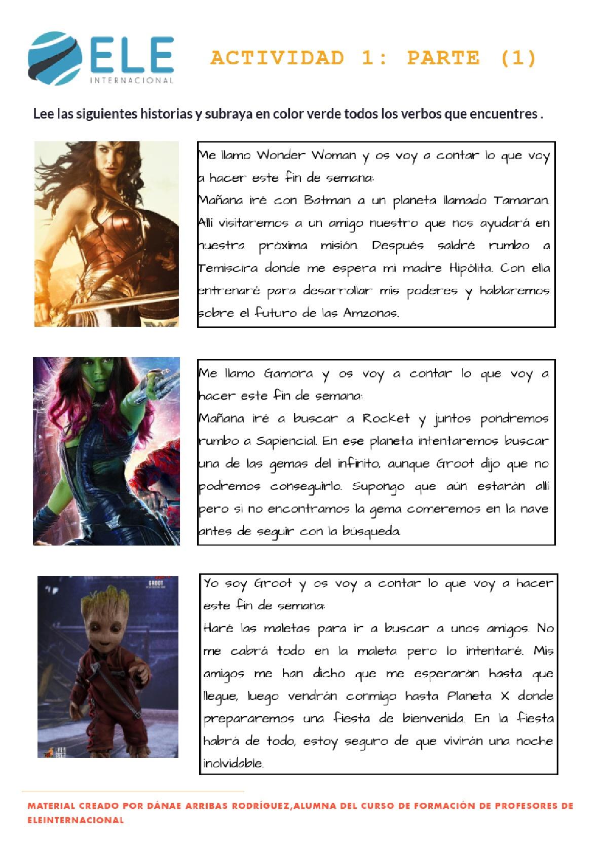 Practicar el futuro con superhéroes [MATERIAL COMPLETO]