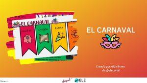 Infografía y actividad sobre el carnaval ELEinternacional