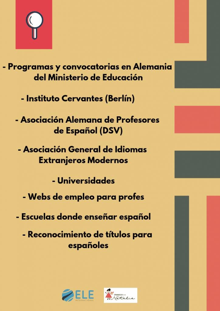 Trabajar como profesor de español en Alemania. #guía #recursos