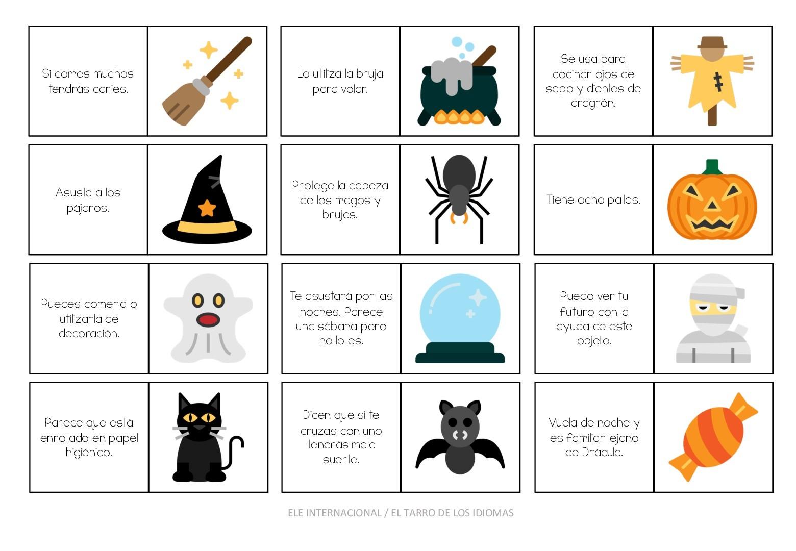 2 juegos de emergencia para Halloween [MATERIAL COMPLETO]