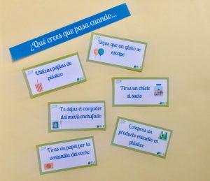 La huella ecológica en clase de ELE. Actividad para debatir sobre qué hace cada alumno para cuidar el medio ambiente. #tarjetas #spanishteacher